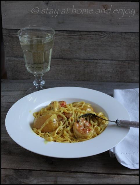 Pasta - Garnelen - Salzzitronen