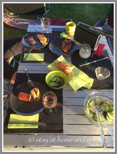 Camping - grillen - stay at home and enjoy