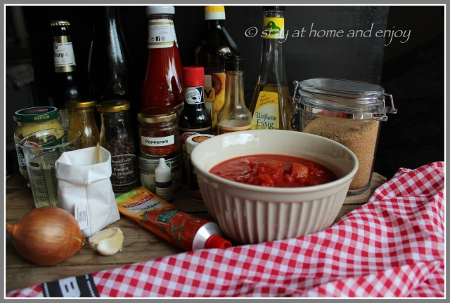 Zutaten BBQ-Sauce - stay at home and enjoy