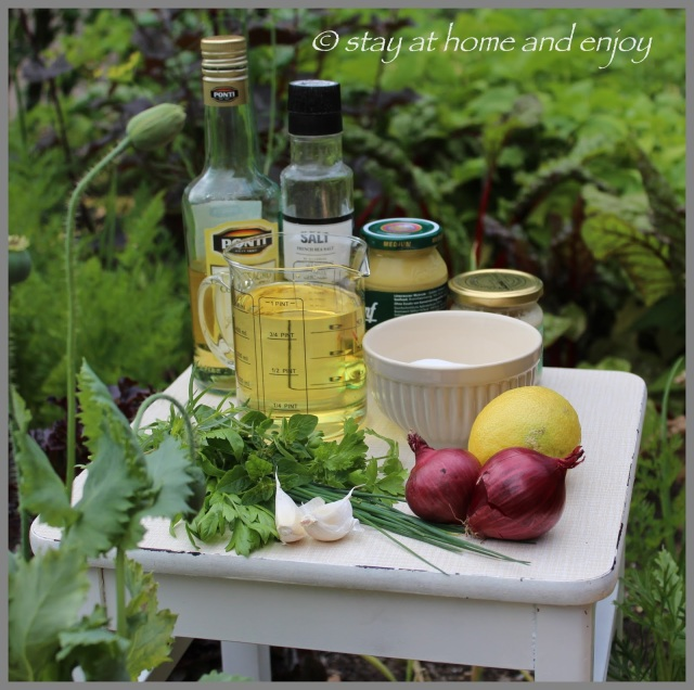 Zutaten Salatdressing - stay at home and enjoy