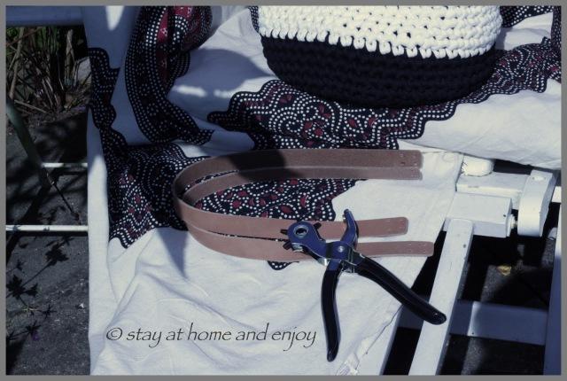 gehäkelte Tasche - stay at home and enjoy