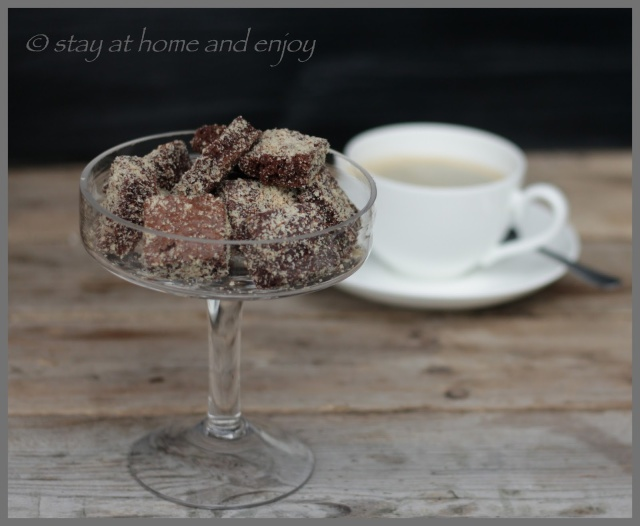 Brownie-Konfekt - stay at home and enjoy