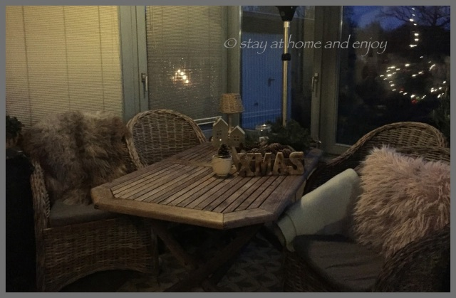 Winter-Terrasse - stay at home and enjoy