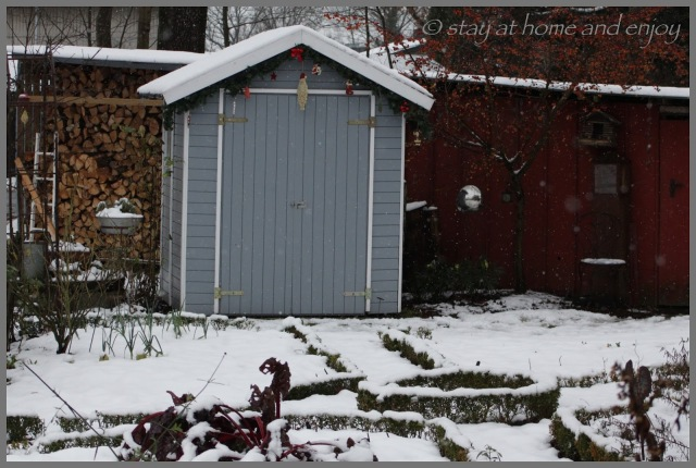 Im Schnee - stay at home and enjoy