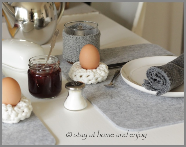 Eierkissen - stay at home and enjoy