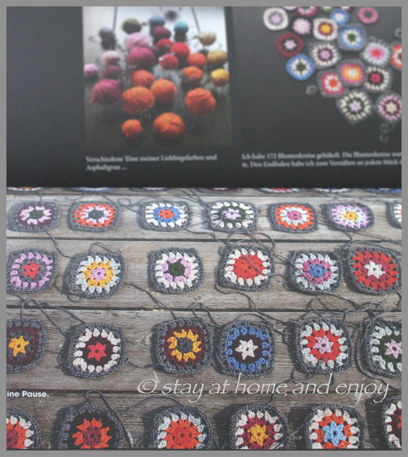 Jacke Aus Granny Squares Stay At Home And Enjoy